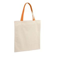 Чанта за пазаруване, памук с цветни дръжки