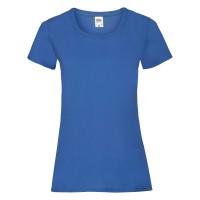 Дамска тениска, кралско синя, памук