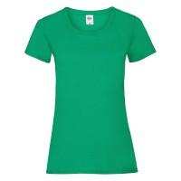 Дамска тениска, зелена, памук