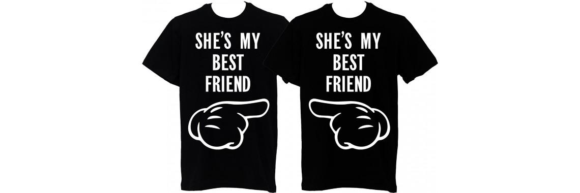 """Тениски за двама """"Най-добри приятели"""""""