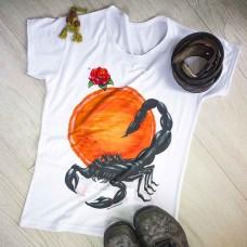 """Тениска с индивидуален дизайн или изображение Зодия """"Скорпион"""""""