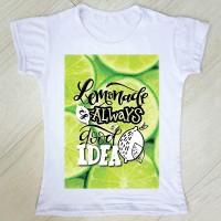 """Тениска със снимка или с индивидуален дизайн """"Лимонада"""""""