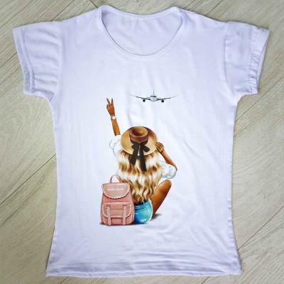 """Тениска със снимка или с индивидуален дизайн """"Автостоп"""""""