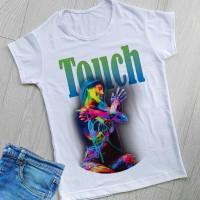 """Тениска със снимка или с индивидуален дизайн """"Докосване"""""""