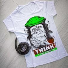 """Тениска със снимка или с индивидуален дизайн """"Мисли! Не е забранено (все още)"""""""