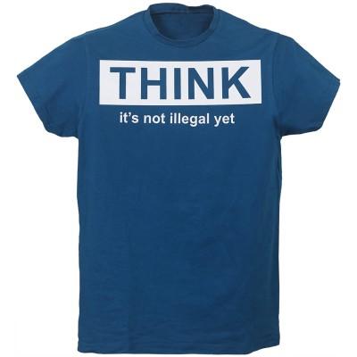 """Тениска с индивидуален дизайн """"МИСЛИ!"""""""