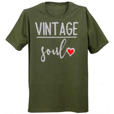 """Тениска с индивидуален дизайн """"Винтидж соул"""""""